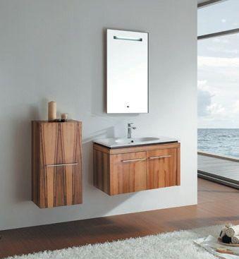modern bathroom cabinet with veneer d511
