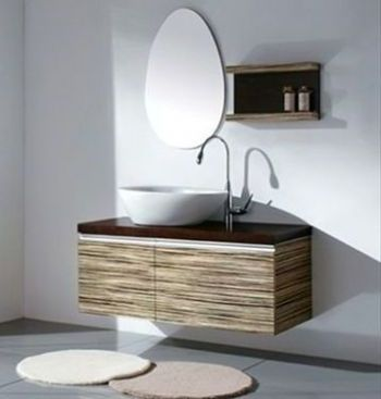 Modern Bathroom Cabinet Vanity With Veneer D514