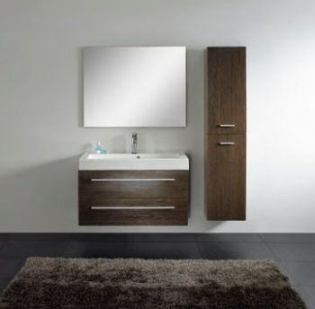 Modern bathroom vanity cabinet in melamine M2308 from Single ...