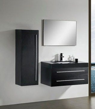Modern Bathroom Vanity Cabinet In Black