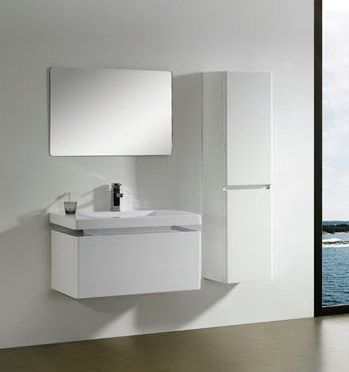modern bathroom vanity cabinet in white m2313 - Modern White Bathroom Cabinets