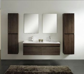 Contemporary Double Sink Bathroom Vanity M1201
