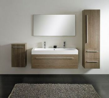 Modern Double Sink Bathroom Furniture Vanity M1202
