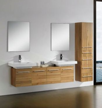 Modern double sink bathroom vanities in CHERRY m1204 from bathroom ...