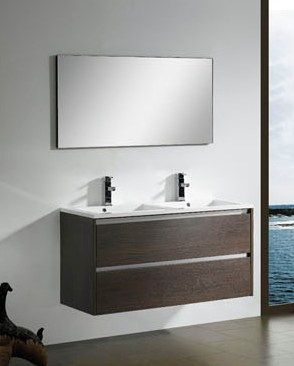 Contemporary Bathroom Vanities on Modern Bathroom Furniture Vanity In Walnut M1205 From Bathroom Vanity