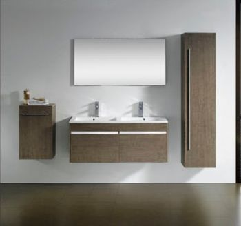 Wall Mounted Double Sink Bathroom Vanity M From Double Bathroom - Wall mount vanities for bathrooms