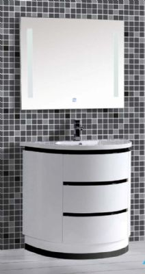 Round Bathroom Cabinet on Floor,White Bathroom Vanity 2004 from ...