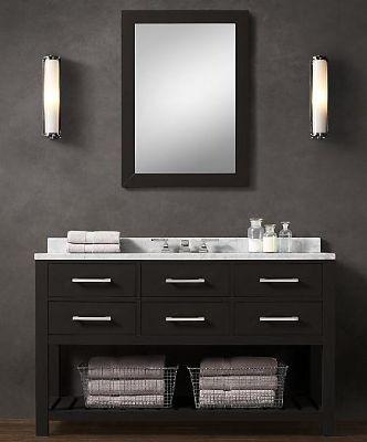 Blk01 55 Wooden Bathroom Vanity Cabinet In Black Color
