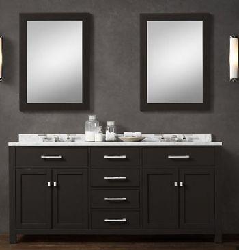 Blk02 72 Wooden Bathroom Vanity Cabinet In Black Color