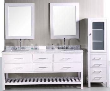 double bathroom vanity set. 72inc Double Sink Bathroom Vanities Set In White S1105 From White