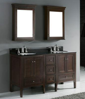Double Sink Bathroom Vanities Set From Double Sinks