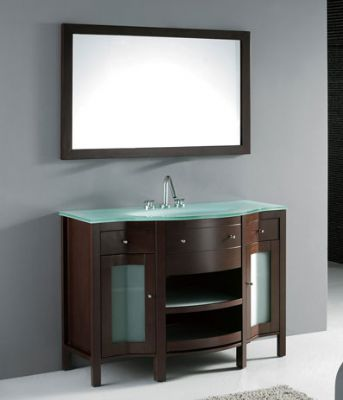 Bathroom Vanity Glass Top 48inc bathroom vanities with glass top s1109 from bathroom vanity