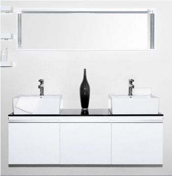 M15095 Double Bathroom Cabinet In White Color