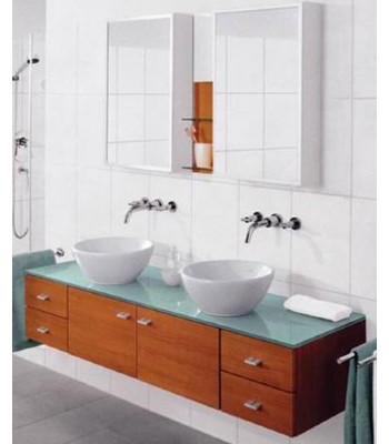 China Double Basin Bathroom Cabinet Supplier D730