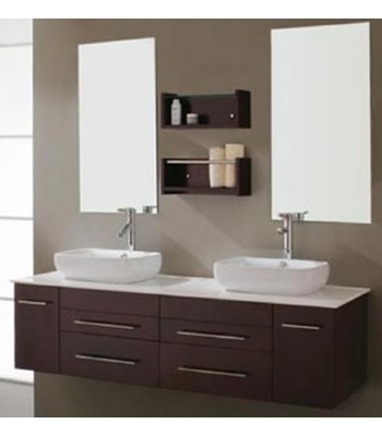 Bathroom Sinks Double Basin double basin wooden bathroom furniture d731 from double sinks