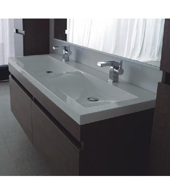 Double Basin Wooden Bathroom Furniture From Double Sinks Bathroom