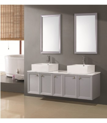 contemporary double basin bathroom furniture D740 from double basins ...
