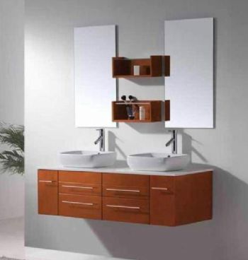 Wall Mounted Bathroom Cabinets on Wall Mounted Bathroom Vanities S5111 Wall Mounted Double Sink Bathroom