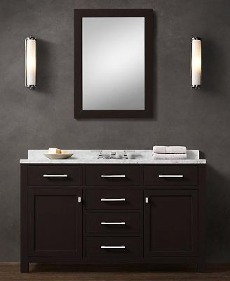 Es02 55 Wooden Bathroom Vanity Cabinet In Espresso