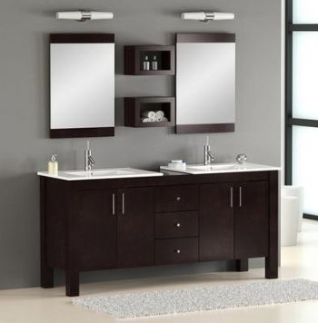 Es09 Double Bathroom Vanity Cabinet With Espresso Finish
