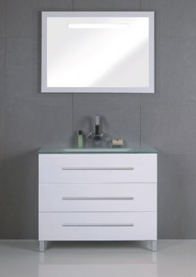 900mm pvc bathroom vanity cabinet in white p6207 from for Bathroom cabinet 900mm high