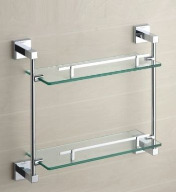 double glass shelves