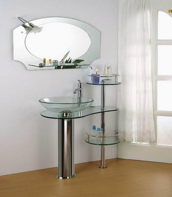 factory of bathroom cabinet glass vanity 06 from bathroom vanity