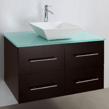 Bathroom Vanity Veneer wall mounted bathroom vanity with wooden veneer m952 from bathroom