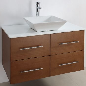 Wall Mounted Bathroom Vanity With Wooden Veneer M953