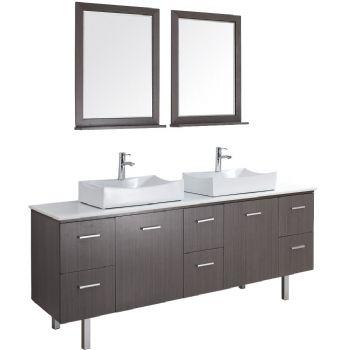 Bathroom Vanities Double Sink on Double Sink Bathroom Vanity With Wooden Veneer M959 From Bathroom