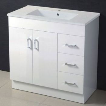 900mm mdf bathroom vanity in white color m962 from white
