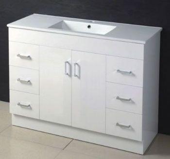 1200mm MDF Bathroom Vanity In White Color M963 From Mdf Bathroom Vanity