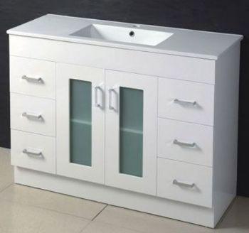 1200mm glass door MDF bathroom vanity in white color M967 from ...