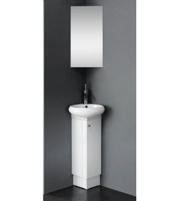 small corner white color bathroom vanity from bathroom cabinet
