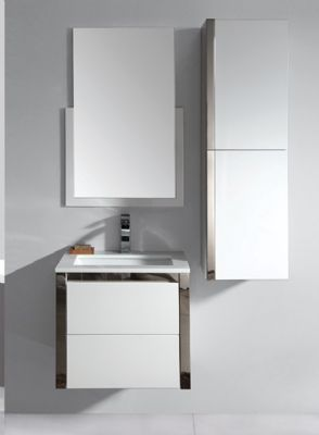Bathroom Vanity on Nmf04 60 Mdf Bathroom Vanity Cabinet  Wall Hung From Bathroom Vanity