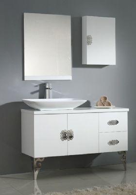NMF07 1200 MDF Bathroom Vanity Cabinet In White From Bathroom Vanity