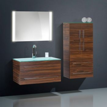 n16186 melamine bathroom furniture cabinet walnut finish