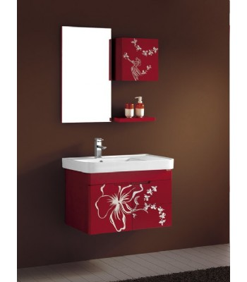 Pvc Bathroom Vanity Cabinet In Red P693 From Bathroom Vanity Cabinet On Wall Modern Bathroom Cabinet