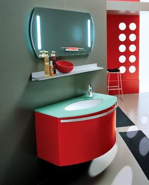 P1307 PVC bathroom vanity cabinet in RED from Bathroom Vanity ...
