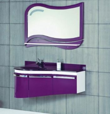 Bathroom Double Vanities on P1312 Pvc Bathroom Vanity Cabinet With Glass Sink From Bathroom Vanity