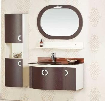 Bathroom Vanities  Cabinets on P1317 Pvc Bathroom Vanity Cabinet Brown Color From Bathroom Vanity