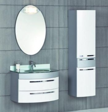 P1318 Pvc Bathroom Vanity Cabinet Silver Color