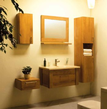 Solid Wooden Bathroom Cabinet S908