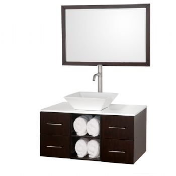 wall mounted bathroom vanity espresso color bath faucets mount base units