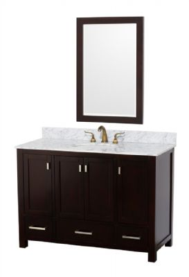 Brilliant Dark Wood Bathroom Vanity  Home Design Ideas