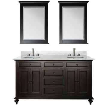 68inc double sink wooden bathroom vanity in espressoo color S951. 68inc double sink wooden bathroom vanity in espressoo color S951