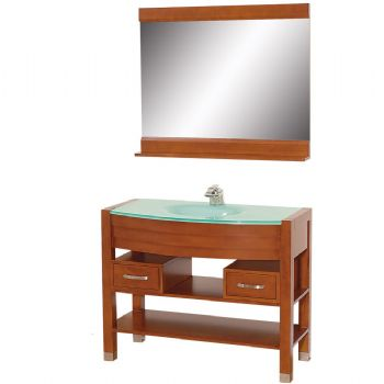 glass sink bathroom vanity in cherry color 58599 from bathroom vanity