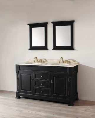 60inc Transitional Double Basins Bathroom Vanity S1001 Free Standing