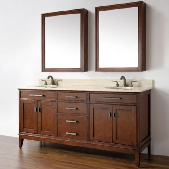 72inc Double Sink Bathroom Vanities Set S3101