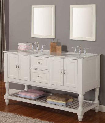 White Bathroom Furniture on White Double Sink Bathroom Vanities S3104 From Double Sink Bathroom